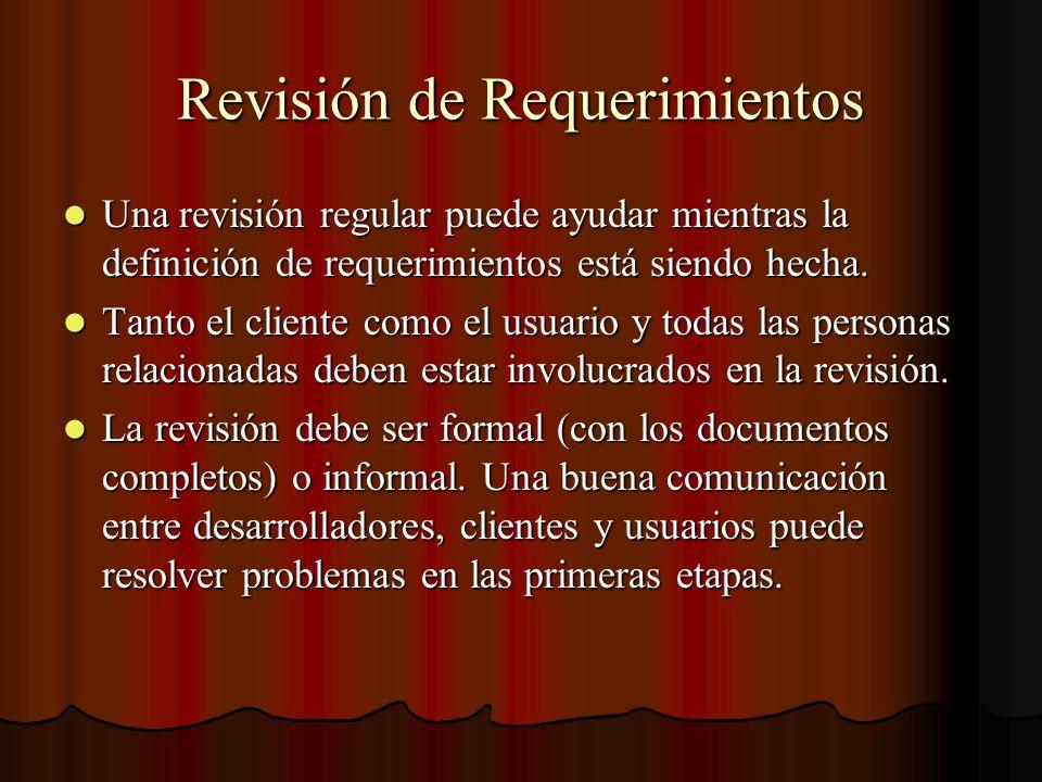 Revisión de Requerimientos