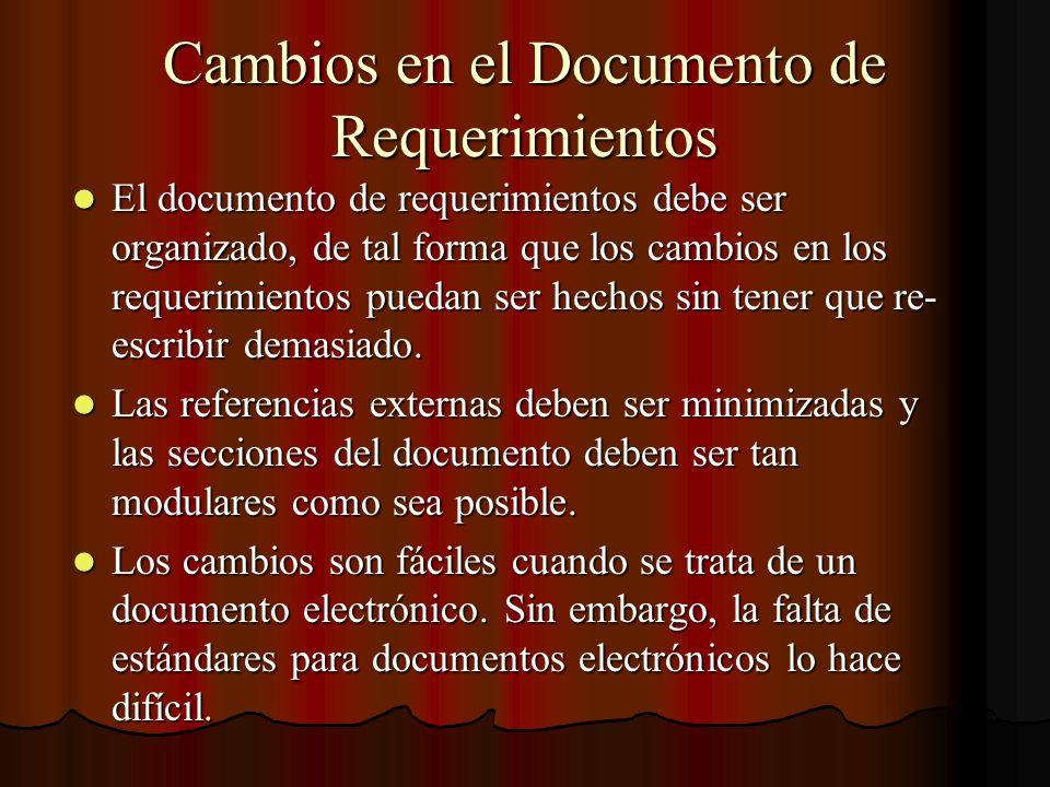 Cambios en el Documento de Requerimientos