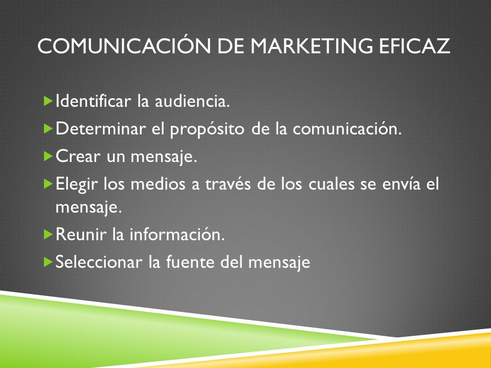 Comunicación de marketing eficaz