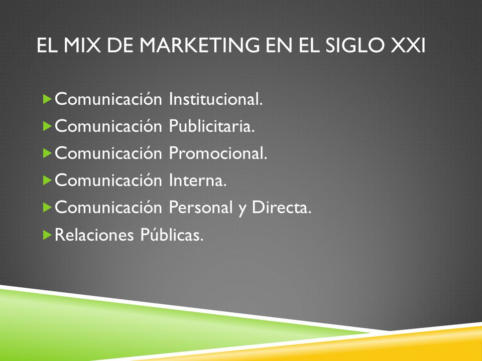El Mix de Marketing en el siglo XXI