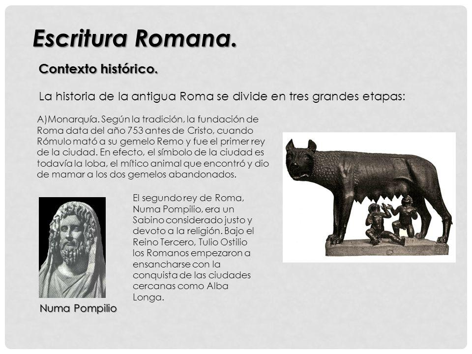 Escritura Romana. Contexto histórico.