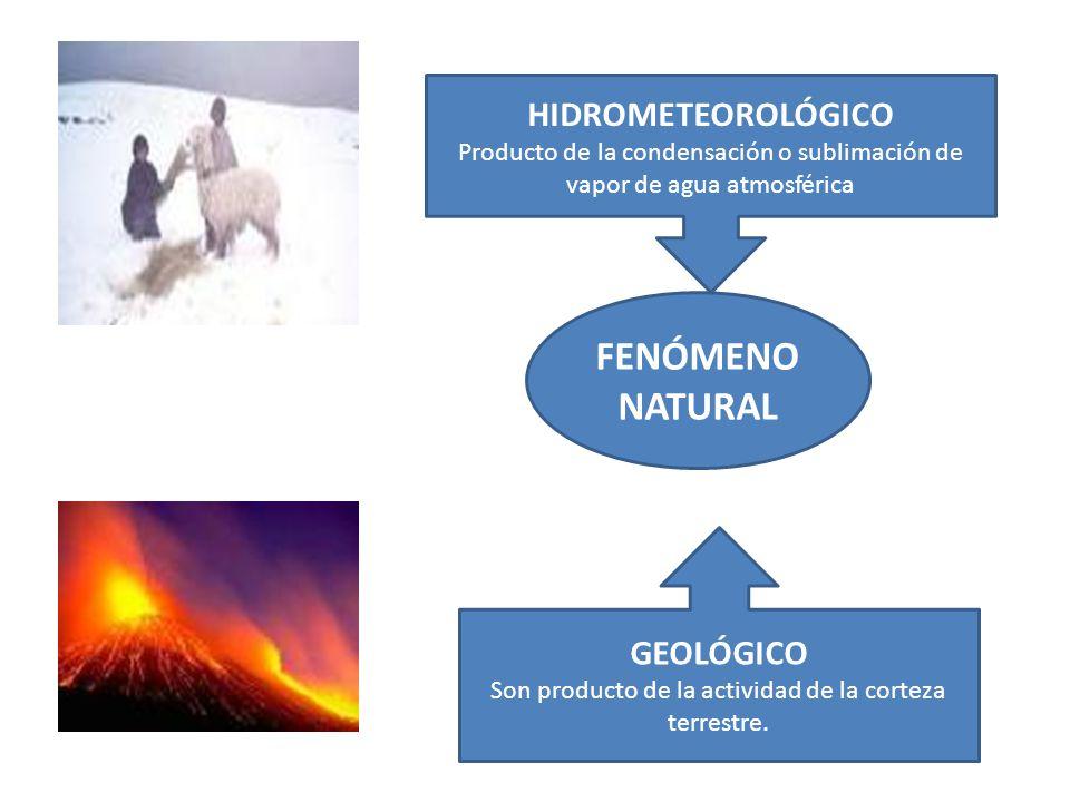 FENÓMENO NATURAL HIDROMETEOROLÓGICO GEOLÓGICO
