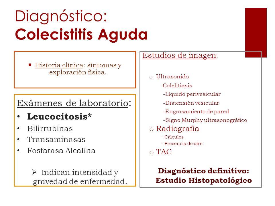 Diagnóstico: Colecistitis Aguda