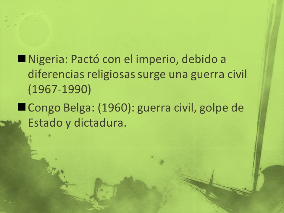 Nigeria: Pactó con el imperio, debido a diferencias religiosas surge una guerra civil (1967-1990)