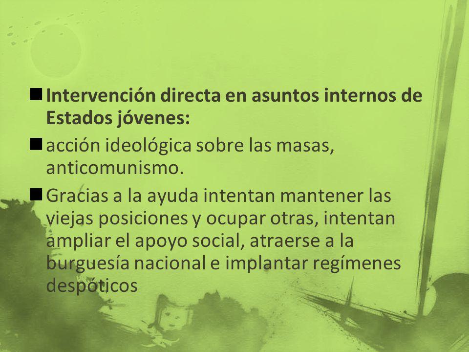 Intervención directa en asuntos internos de Estados jóvenes: