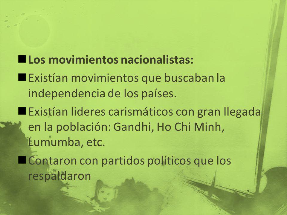 Los movimientos nacionalistas: