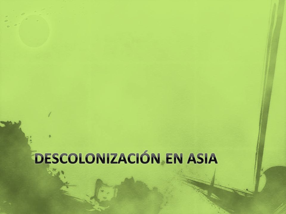 Descolonización en Asia