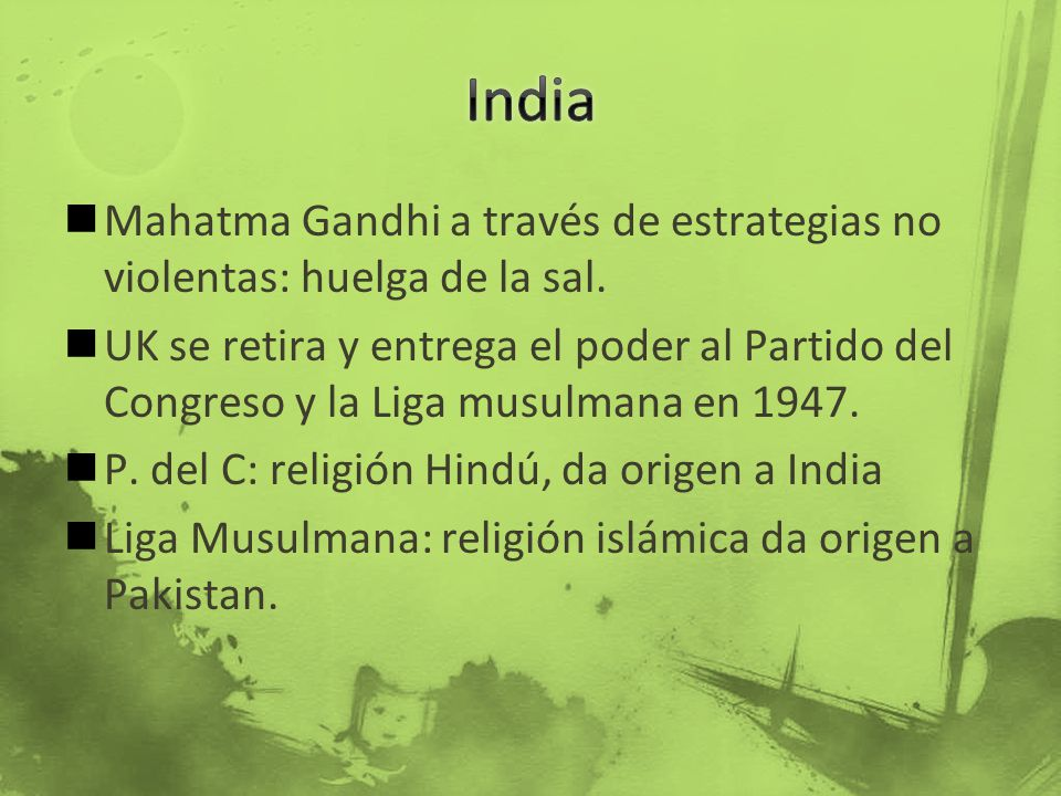 India Mahatma Gandhi a través de estrategias no violentas: huelga de la sal.