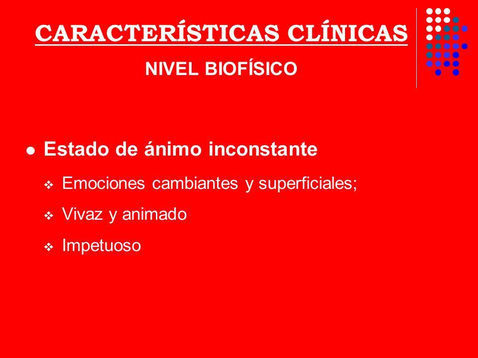 CARACTERÍSTICAS CLÍNICAS NIVEL BIOFÍSICO