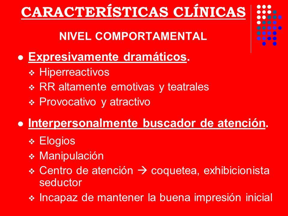 CARACTERÍSTICAS CLÍNICAS NIVEL COMPORTAMENTAL