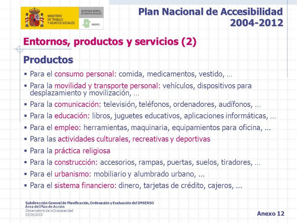 Entornos, productos y servicios (2)