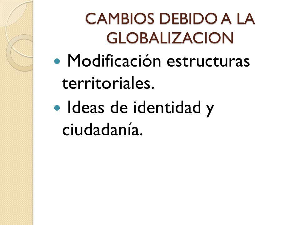 CAMBIOS DEBIDO A LA GLOBALIZACION