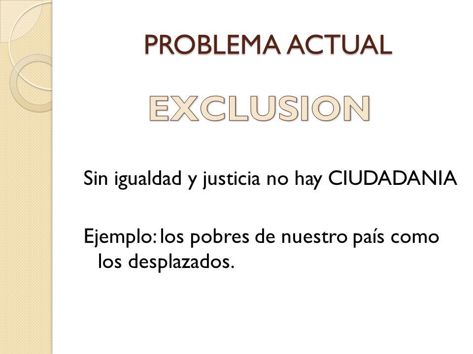 EXCLUSION PROBLEMA ACTUAL