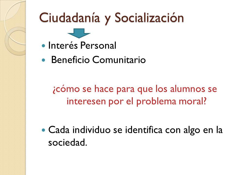 Ciudadanía y Socialización