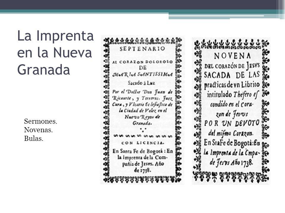 La Imprenta en la Nueva Granada
