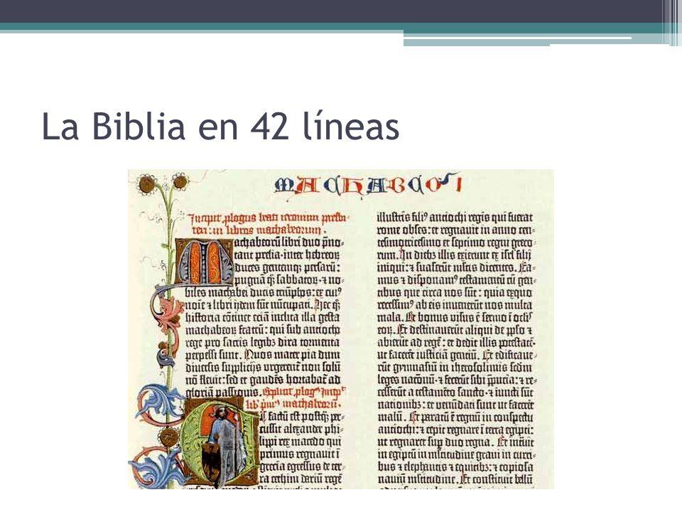 La Biblia en 42 líneas
