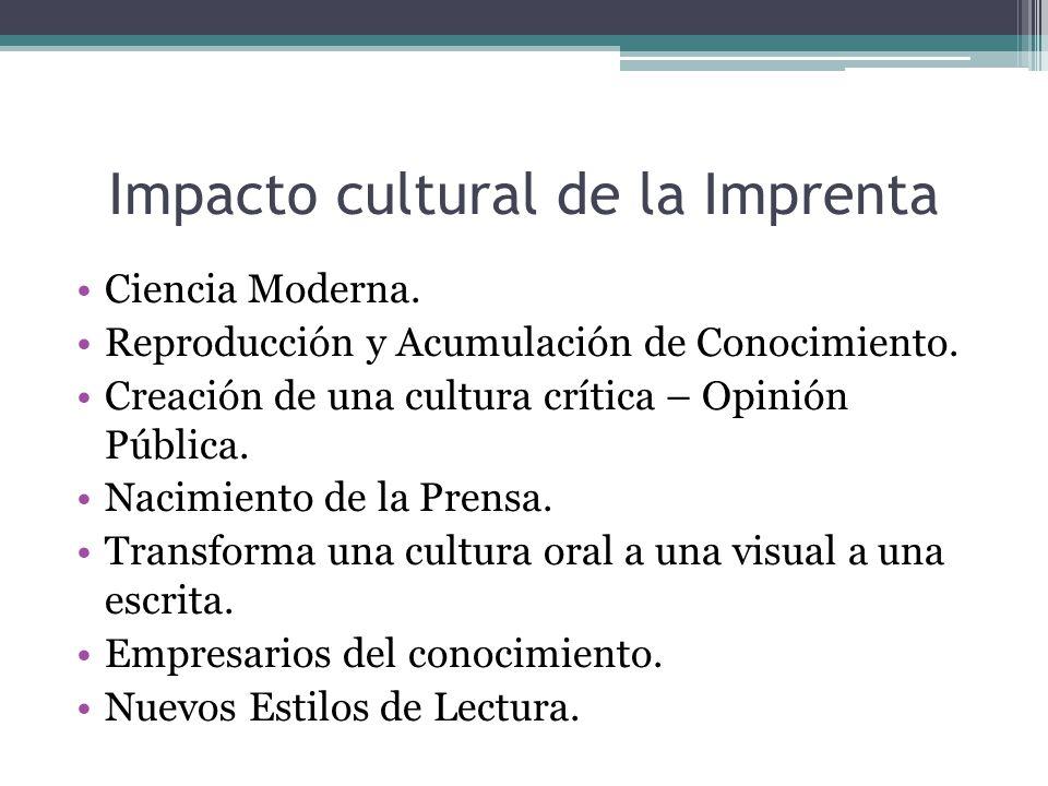 Impacto cultural de la Imprenta
