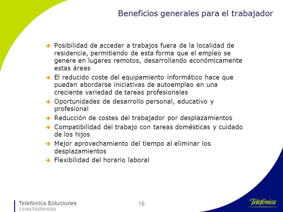 Beneficios generales para el trabajador