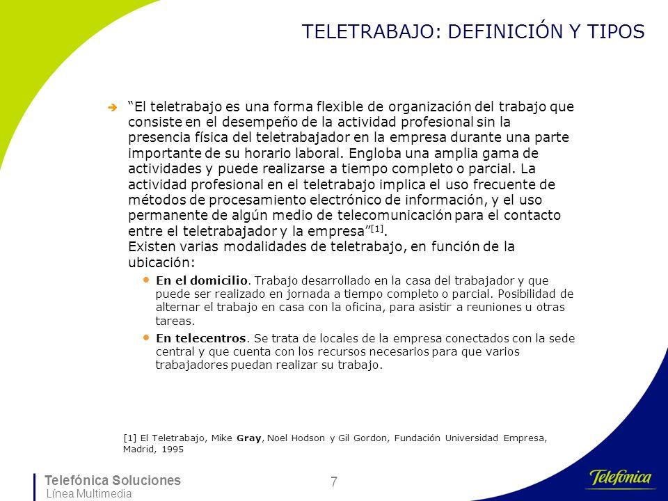 TELETRABAJO: DEFINICIÓN Y TIPOS