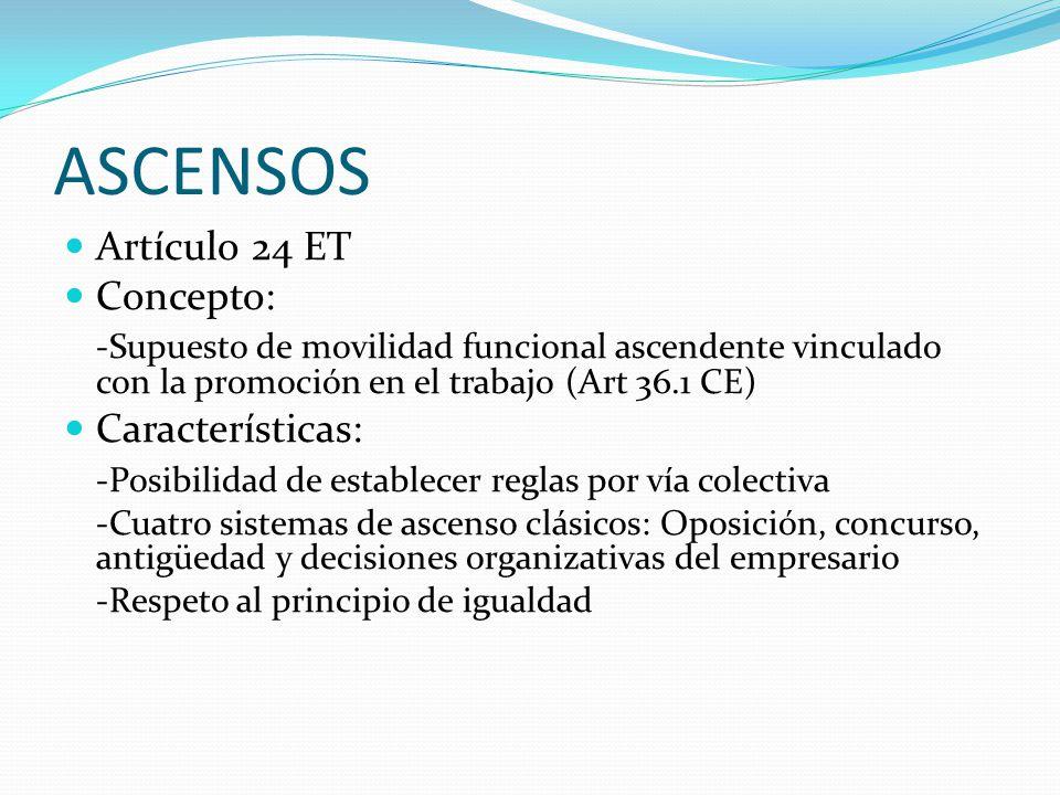 ASCENSOS Artículo 24 ET Concepto: