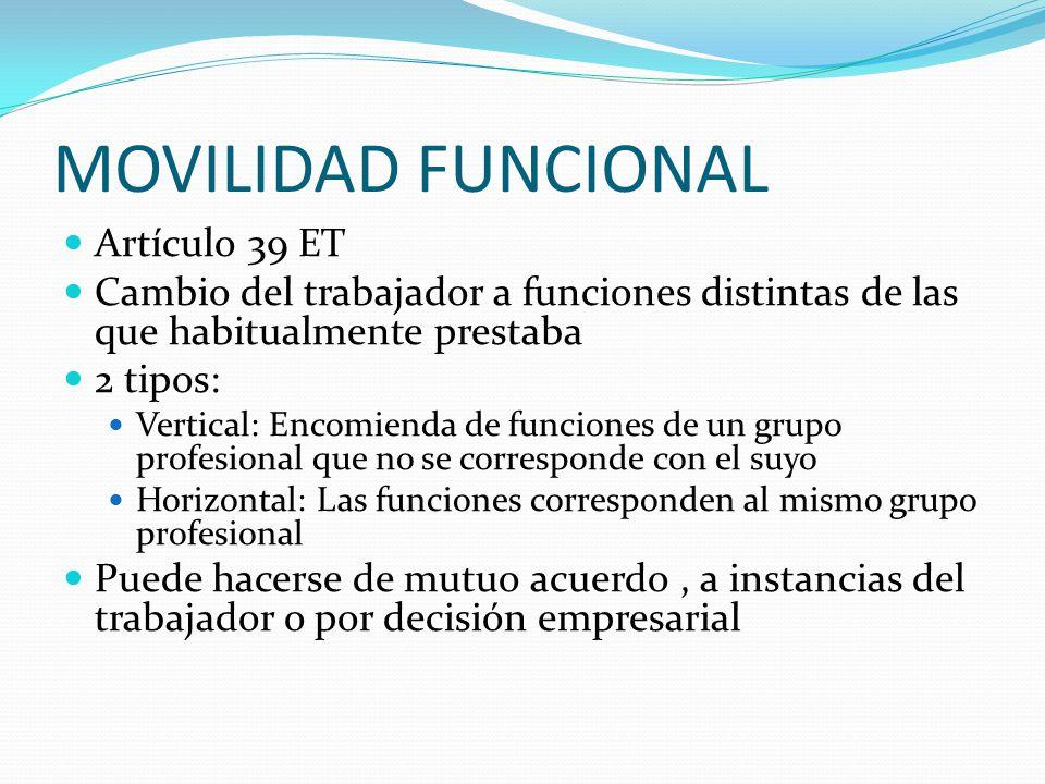 MOVILIDAD FUNCIONAL Artículo 39 ET