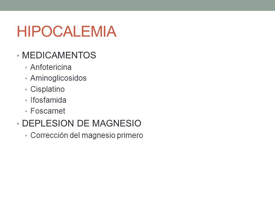 HIPOCALEMIA MEDICAMENTOS DEPLESION DE MAGNESIO Anfotericina