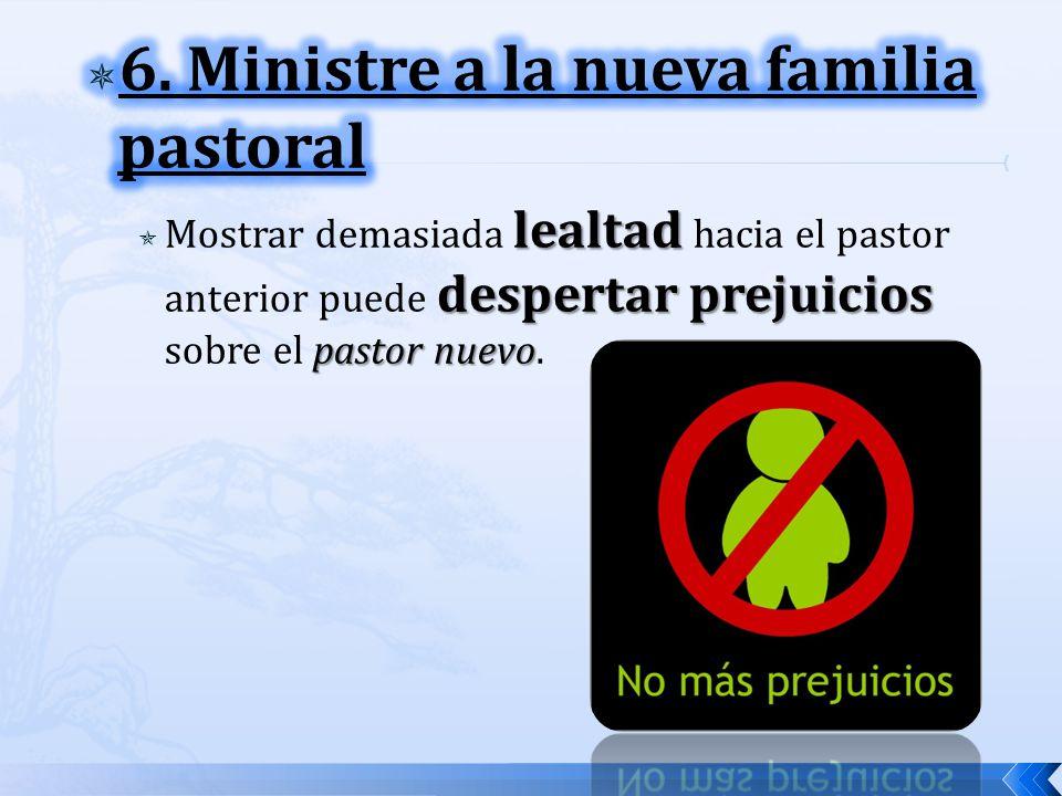 6. Ministre a la nueva familia pastoral