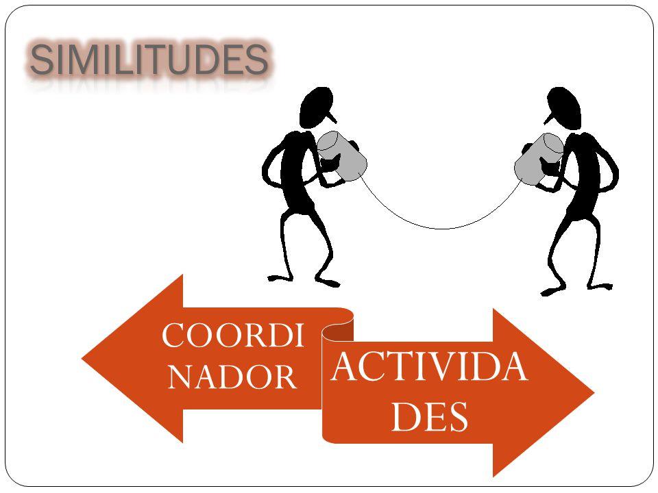 SIMILITUDES COORDINADOR ACTIVIDADES