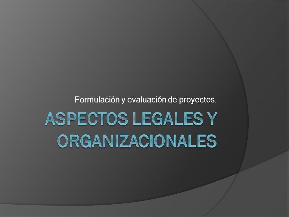 Aspectos legales y organizacioNAles