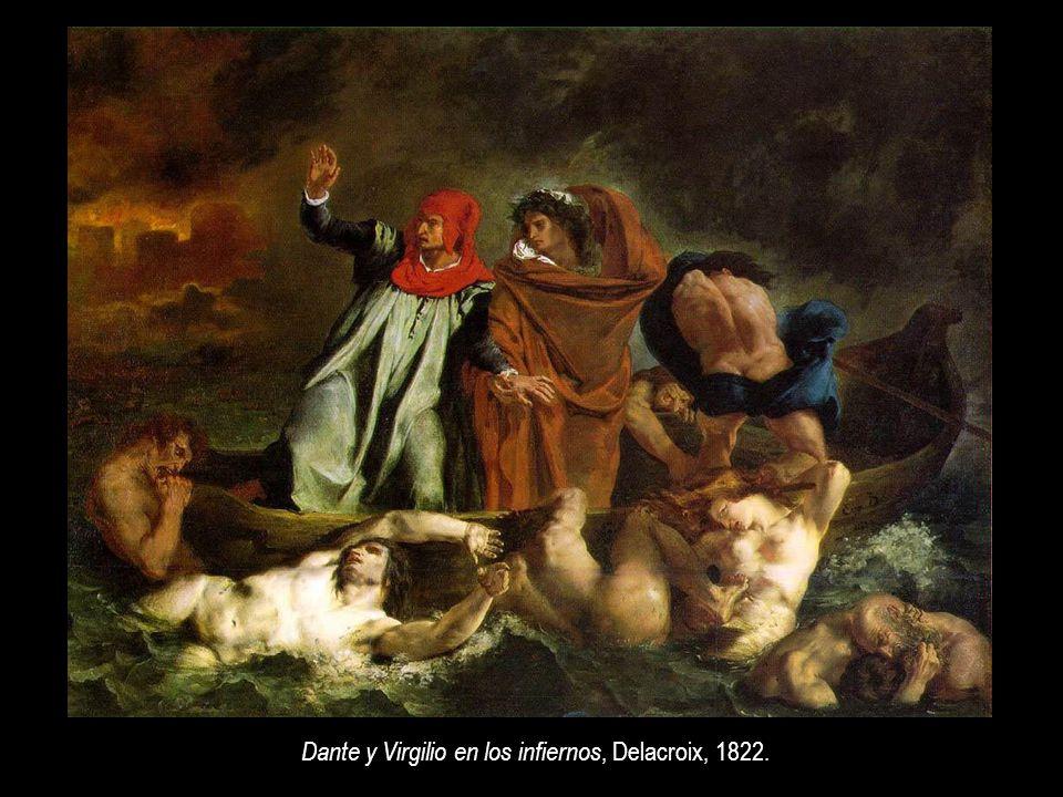 Dante y Virgilio en los infiernos, Delacroix, 1822.