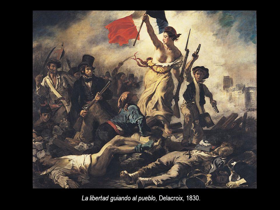 La libertad guiando al pueblo, Delacroix, 1830.