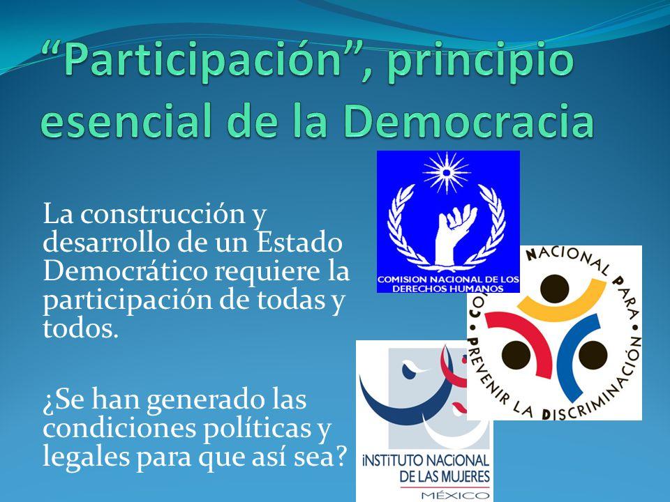 Participación , principio esencial de la Democracia