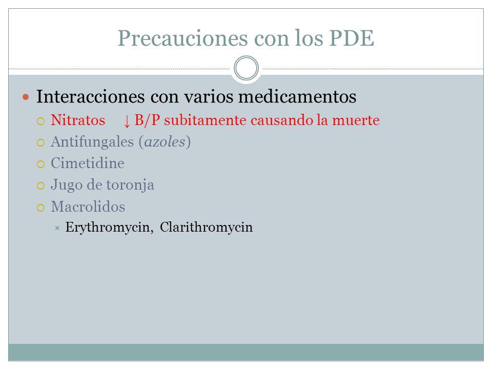 Precauciones con los PDE