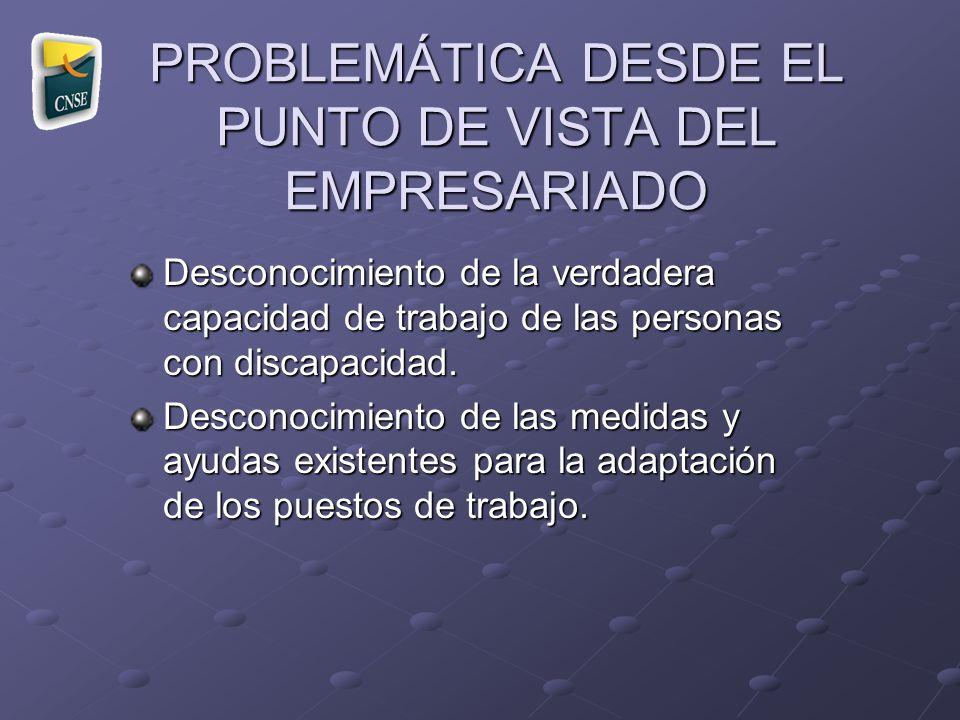 PROBLEMÁTICA DESDE EL PUNTO DE VISTA DEL EMPRESARIADO