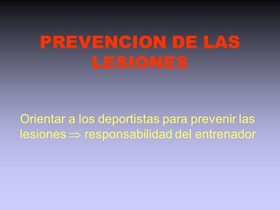 PREVENCION DE LAS LESIONES