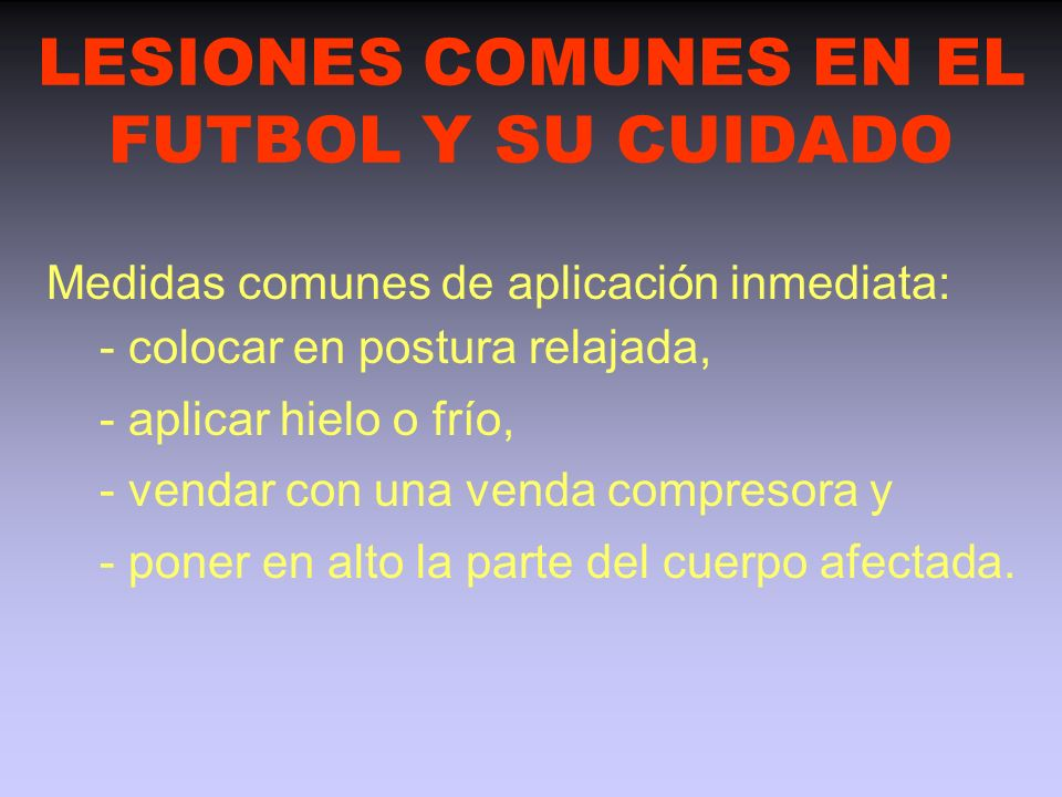LESIONES COMUNES EN EL FUTBOL Y SU CUIDADO