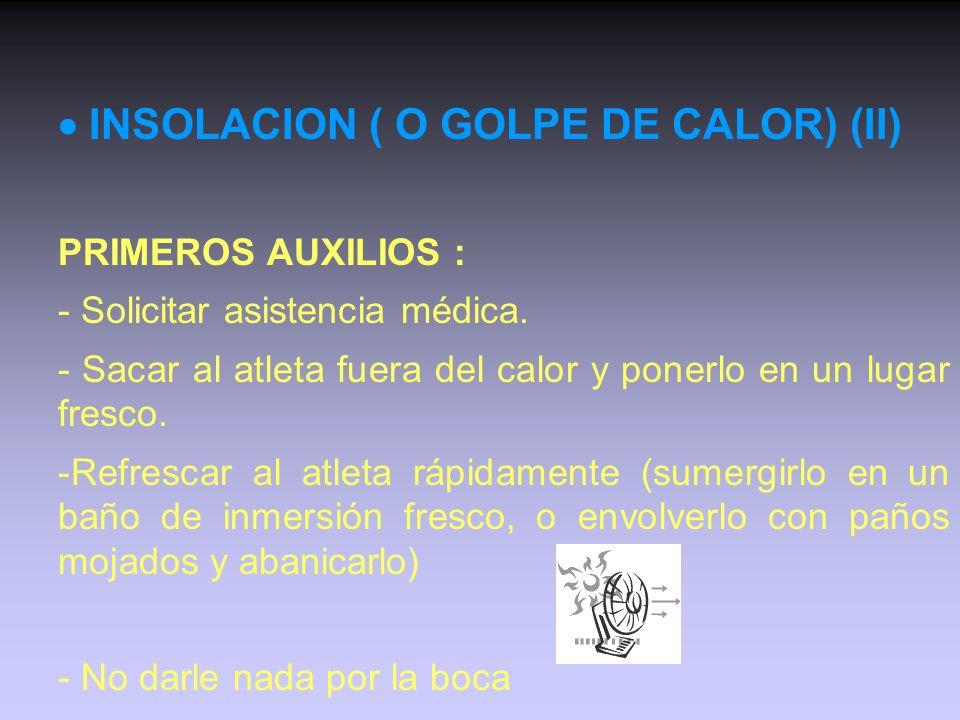  INSOLACION ( O GOLPE DE CALOR) (II)
