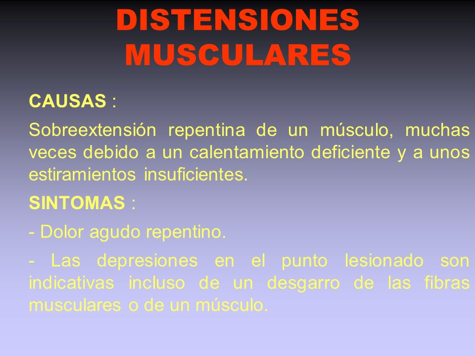 DISTENSIONES MUSCULARES