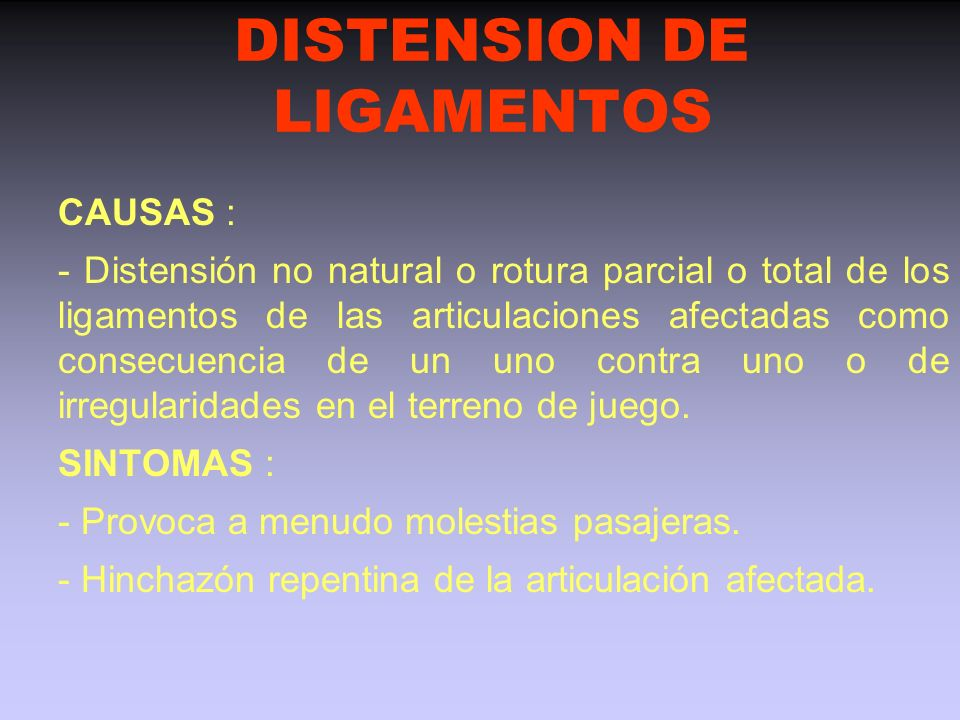 DISTENSION DE LIGAMENTOS