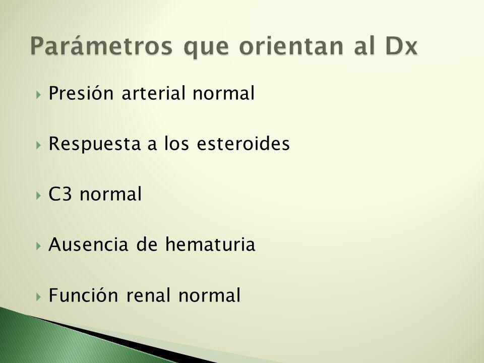 Parámetros que orientan al Dx