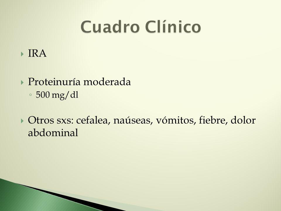 Cuadro Clínico IRA Proteinuría moderada