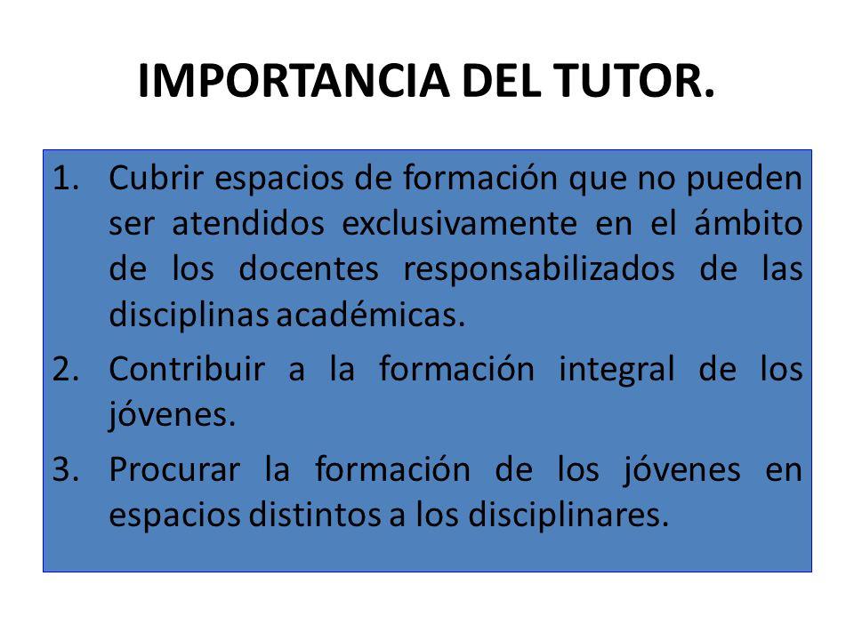 IMPORTANCIA DEL TUTOR.