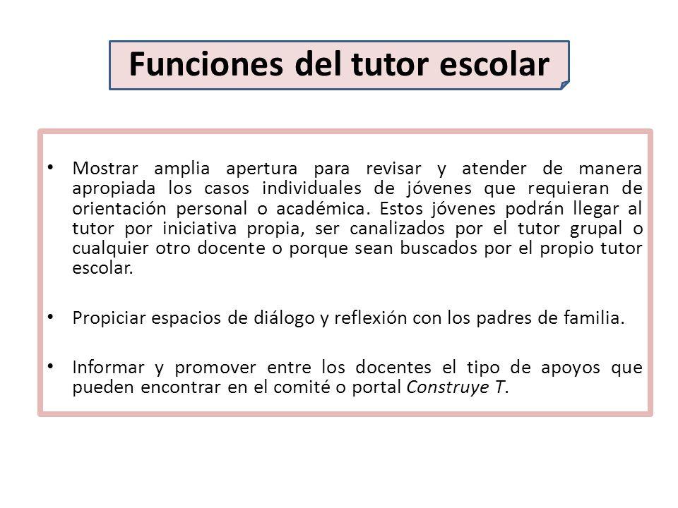 Funciones del tutor escolar