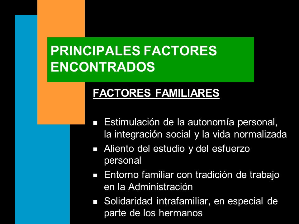 PRINCIPALES FACTORES ENCONTRADOS