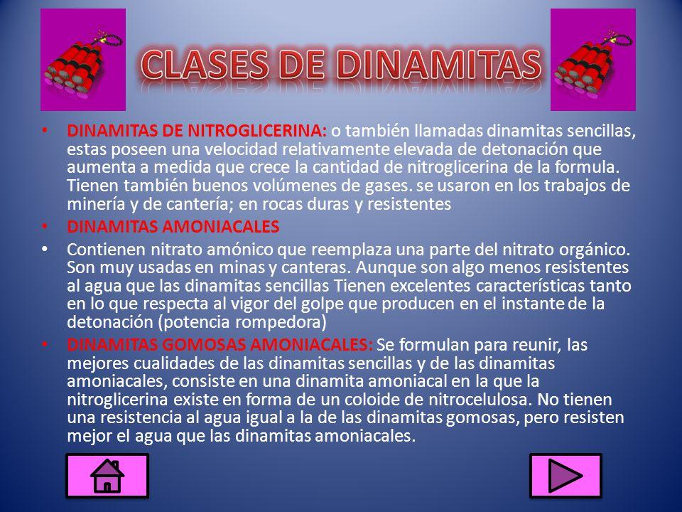 CLASES DE DINAMITAS