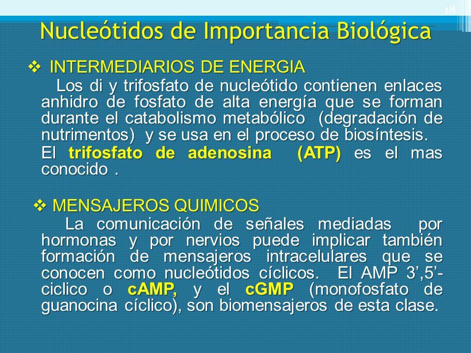Nucleótidos de Importancia Biológica
