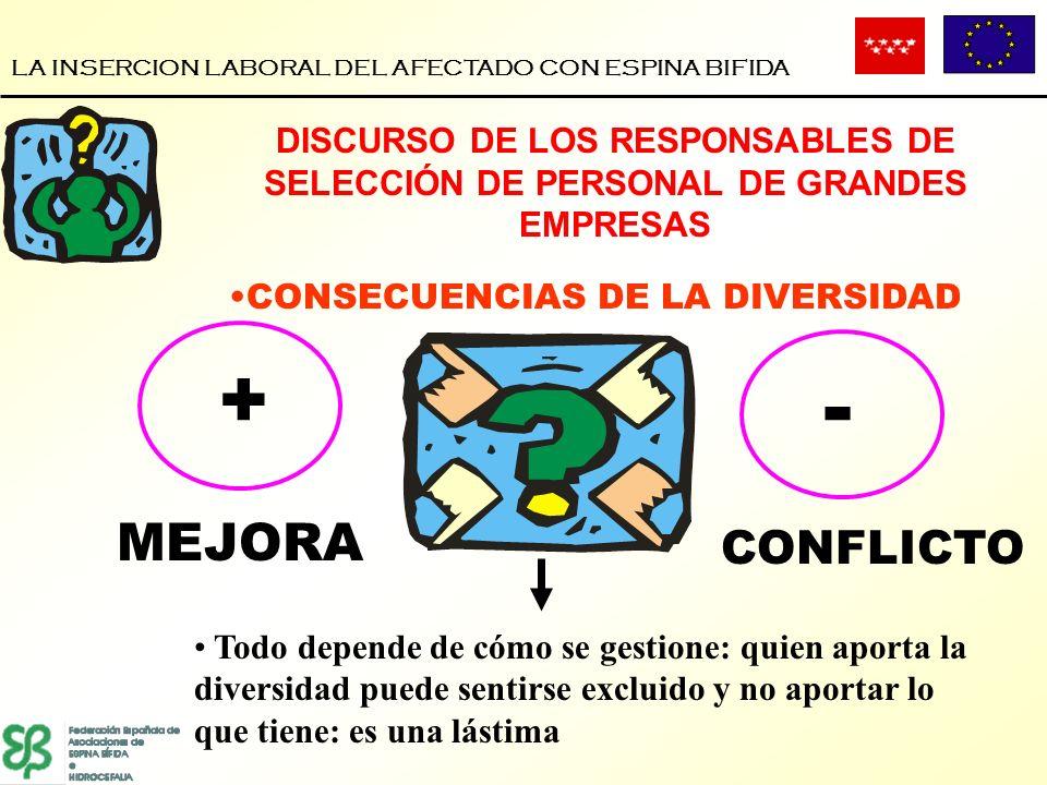 LA INSERCION LABORAL DEL AFECTADO CON ESPINA BIFIDA