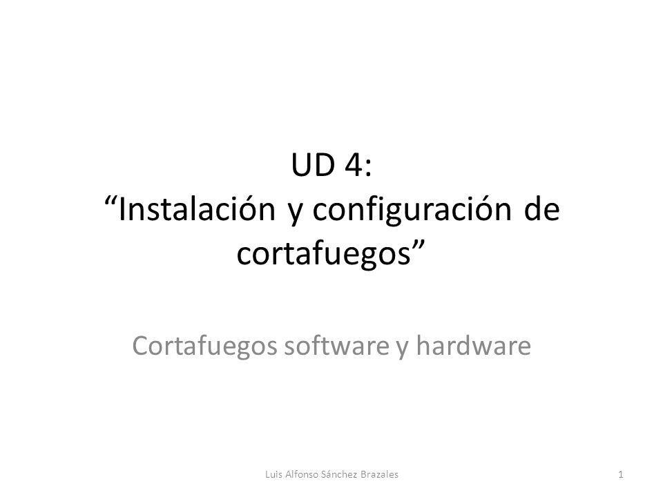 UD 4: Instalación y configuración de cortafuegos