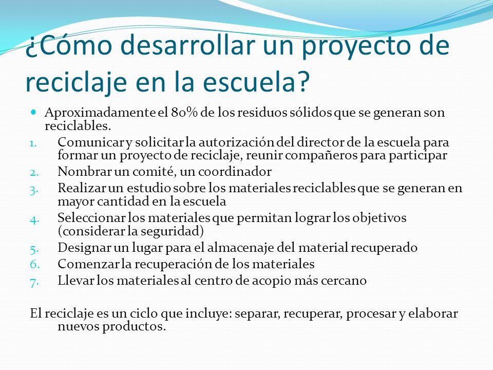 ¿Cómo desarrollar un proyecto de reciclaje en la escuela