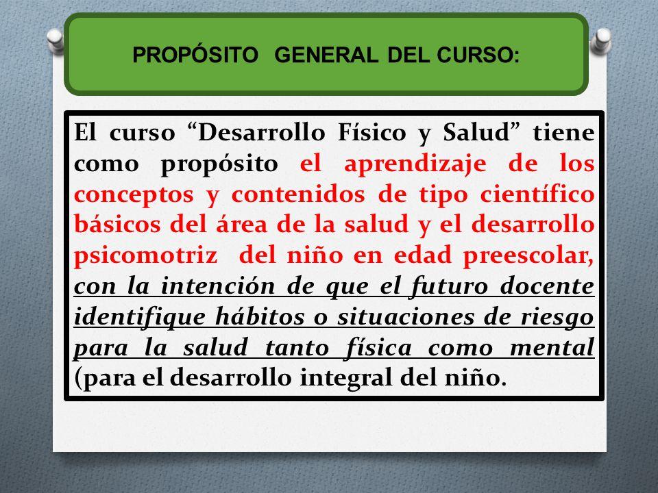 PROPÓSITO GENERAL DEL CURSO: